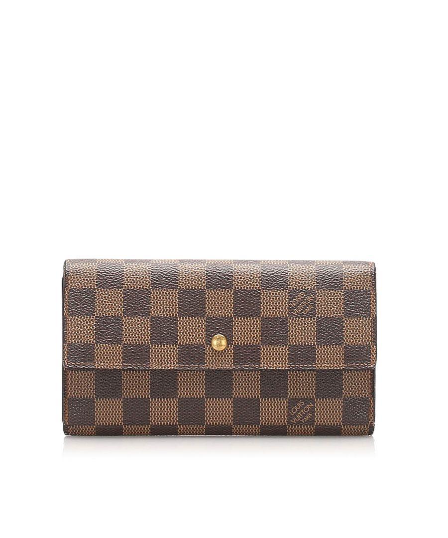 Image for Vintage Louis Vuitton Damier Ebene Sarah Wallet Brown