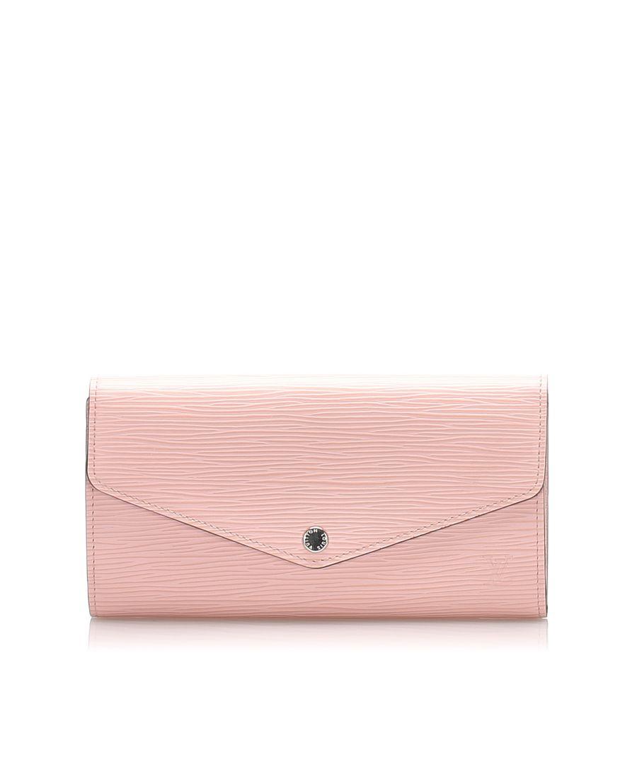 Image for Vintage Louis Vuitton Epi Portefeuille Sarah Pink