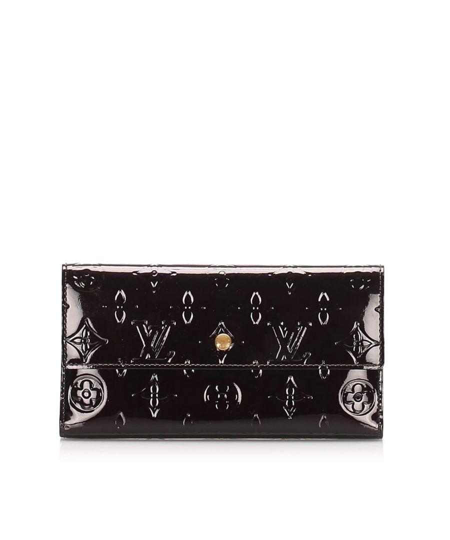 Image for Vintage Louis Vuitton Vernis Porte Tresor International Wallet Purple