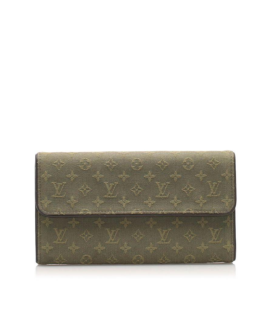 Image for Vintage Louis Vuitton Monogram Mini Lin Porte Tresor International Wallet Gray