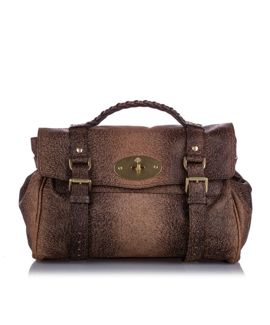 Image for Vintage Mulberry Alexa Leather Handbag Brown