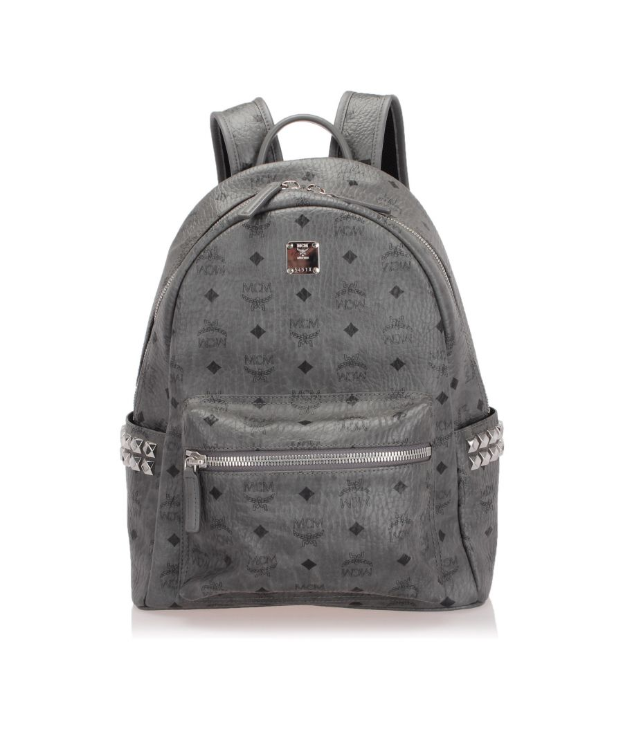 Image for Vintage MCM Visetos Stark Backpack Gray