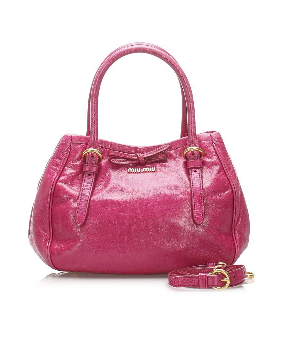 Image for Vintage Miu Miu Vitello Lux Satchel Pink