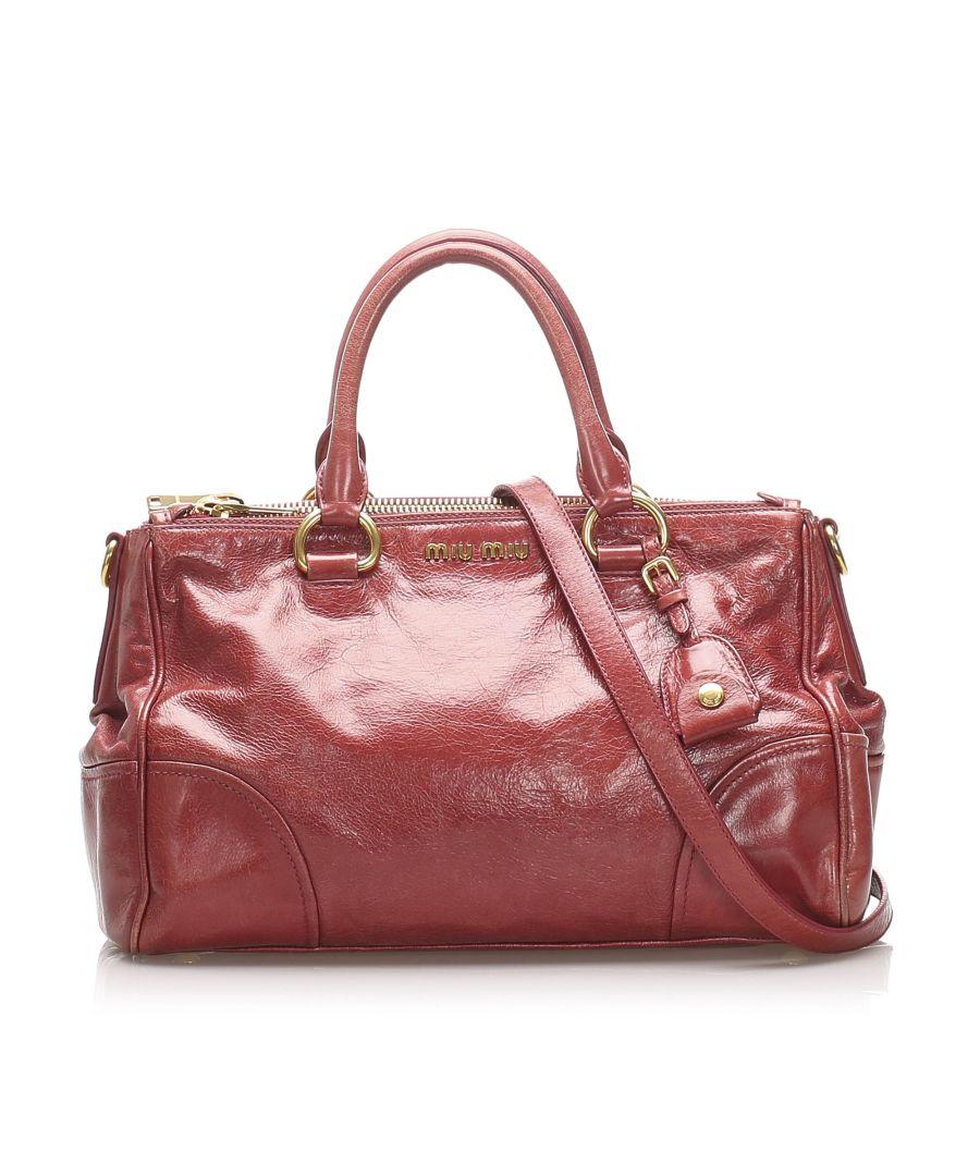 Image for Vintage Miu Miu Vitello Shine Satchel Pink