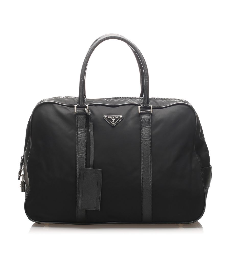 Image for Vintage Prada Tessuto Travel Bag Black