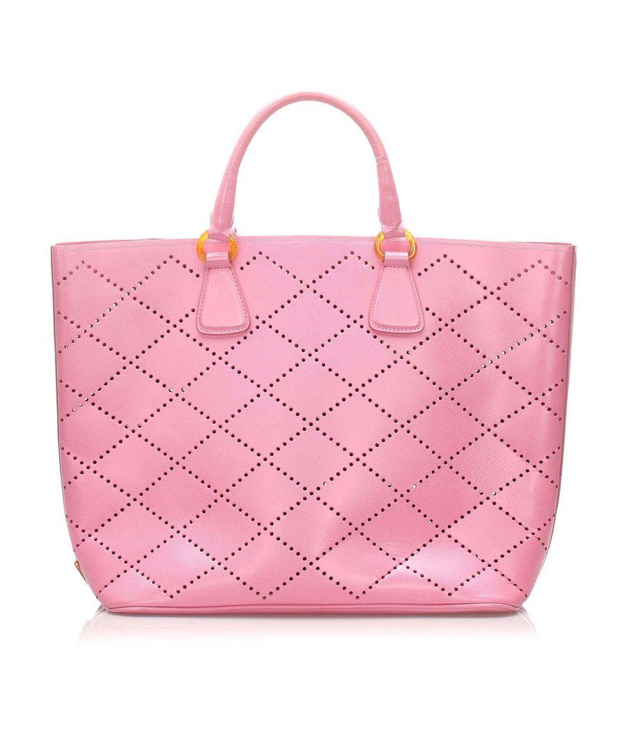 Image for Vintage Prada Saffiano Handbag Pink