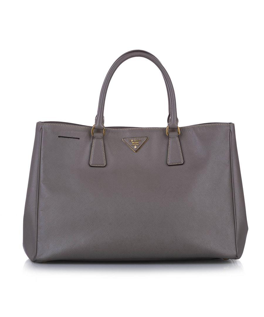 Image for Vintage Prada Saffiano Galleria Handbag Brown