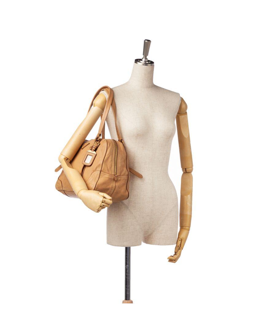 Image for Vintage Prada Cervo Antik Shoulder Bag Brown