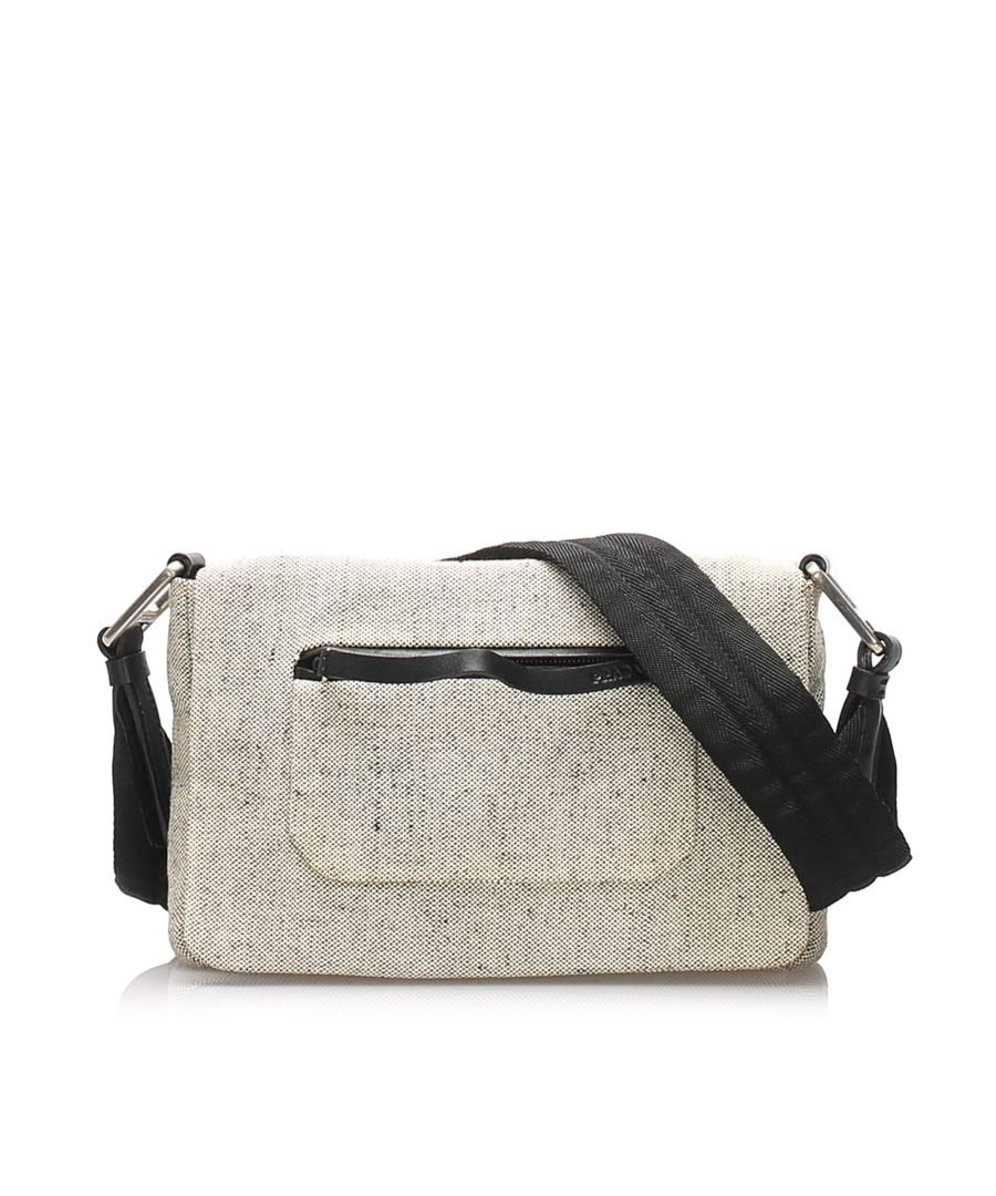 Image for Vintage Prada Wool Shoulder Bag White