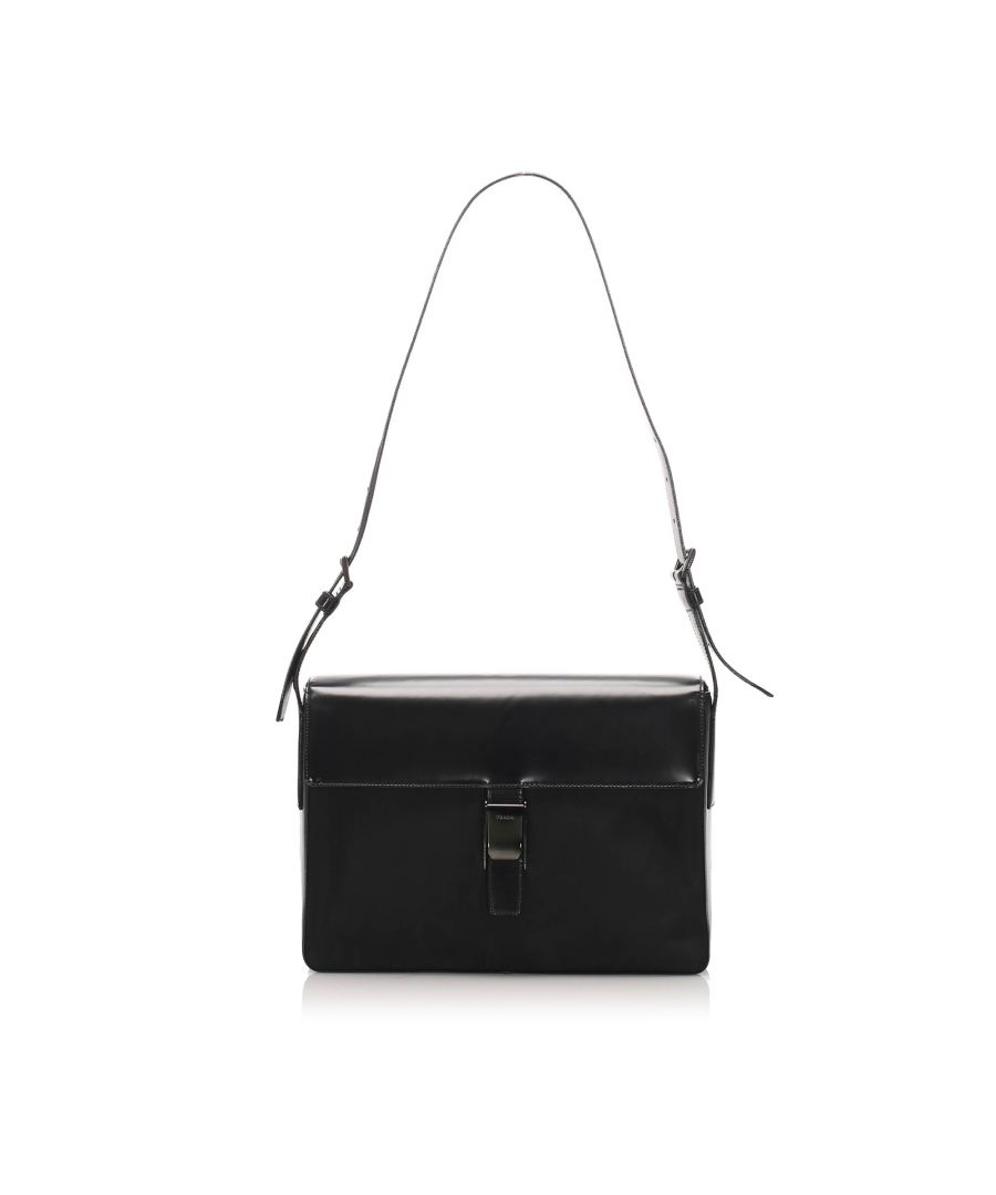 Image for Vintage Prada Tessuto Business Bag Black