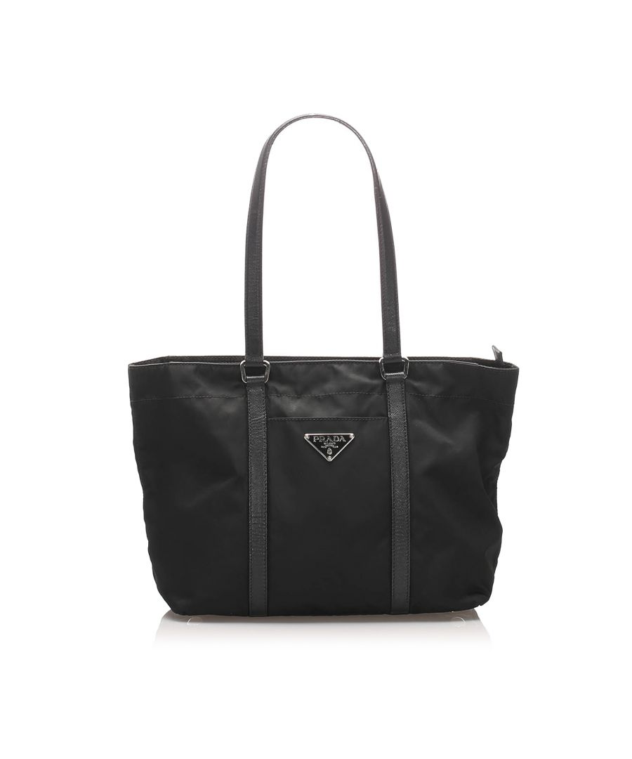 Image for Vintage Prada Tessuto Tote Bag Black