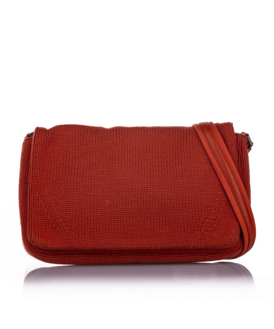 Image for Vintage Prada Cotton Shoulder Bag Orange