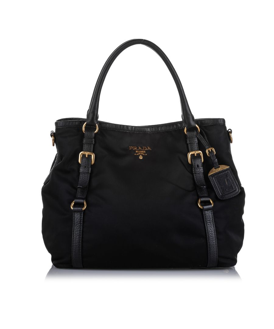 Image for Vintage Prada Tessuto Satchel Black
