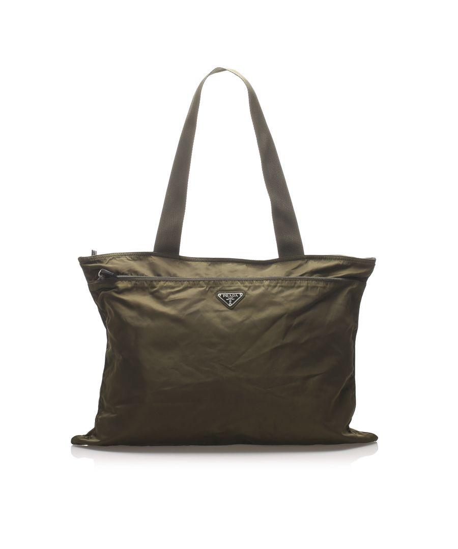 Image for Vintage Prada Tessuto Tote Bag Brown