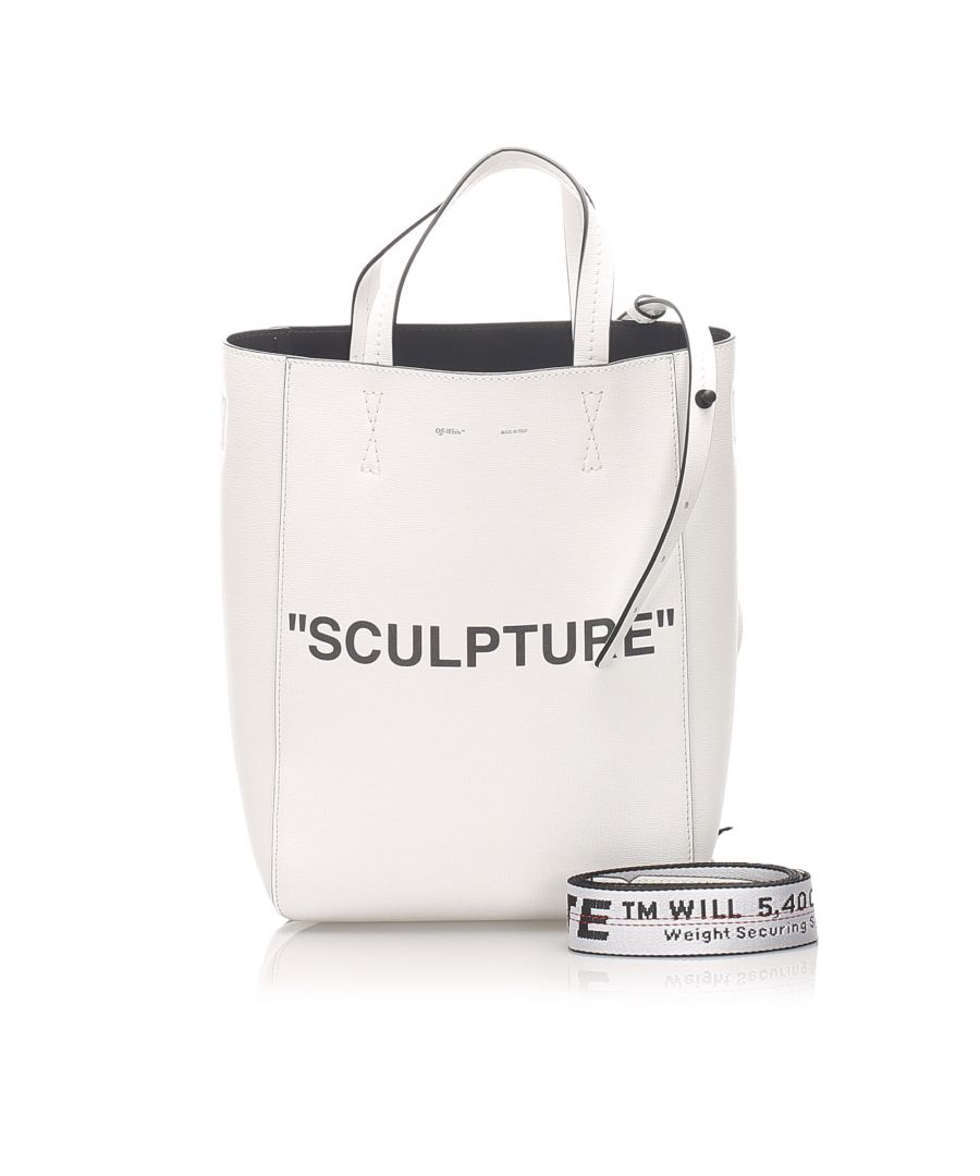 Image for Vintage Off White Sculpture Leather Satchel White