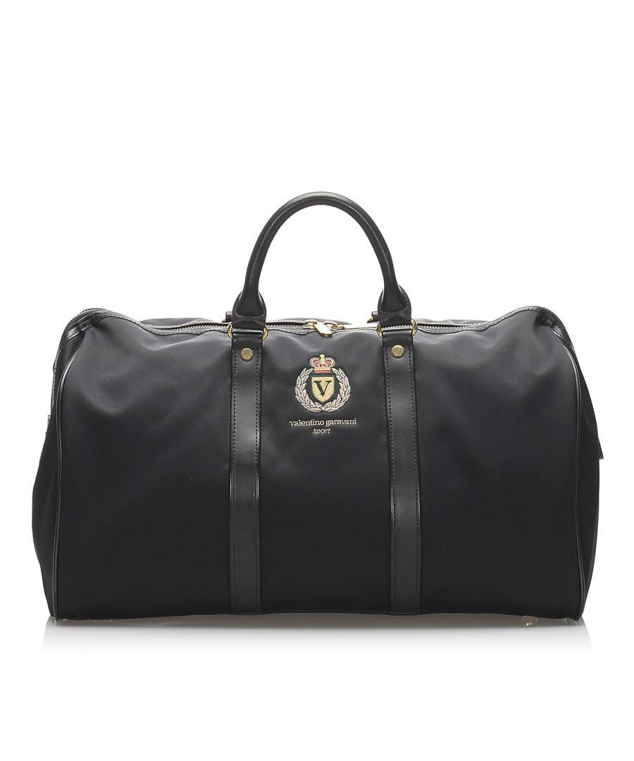Image for Vintage Valentino Nylon Boston Bag Black