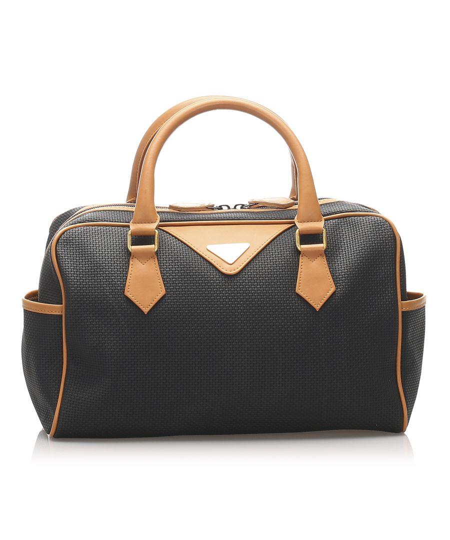 Image for Vintage YSL Weaved PVC Handbag Black