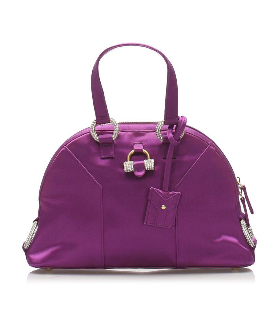 Image for Vintage YSL Muse Satin Handbag Purple