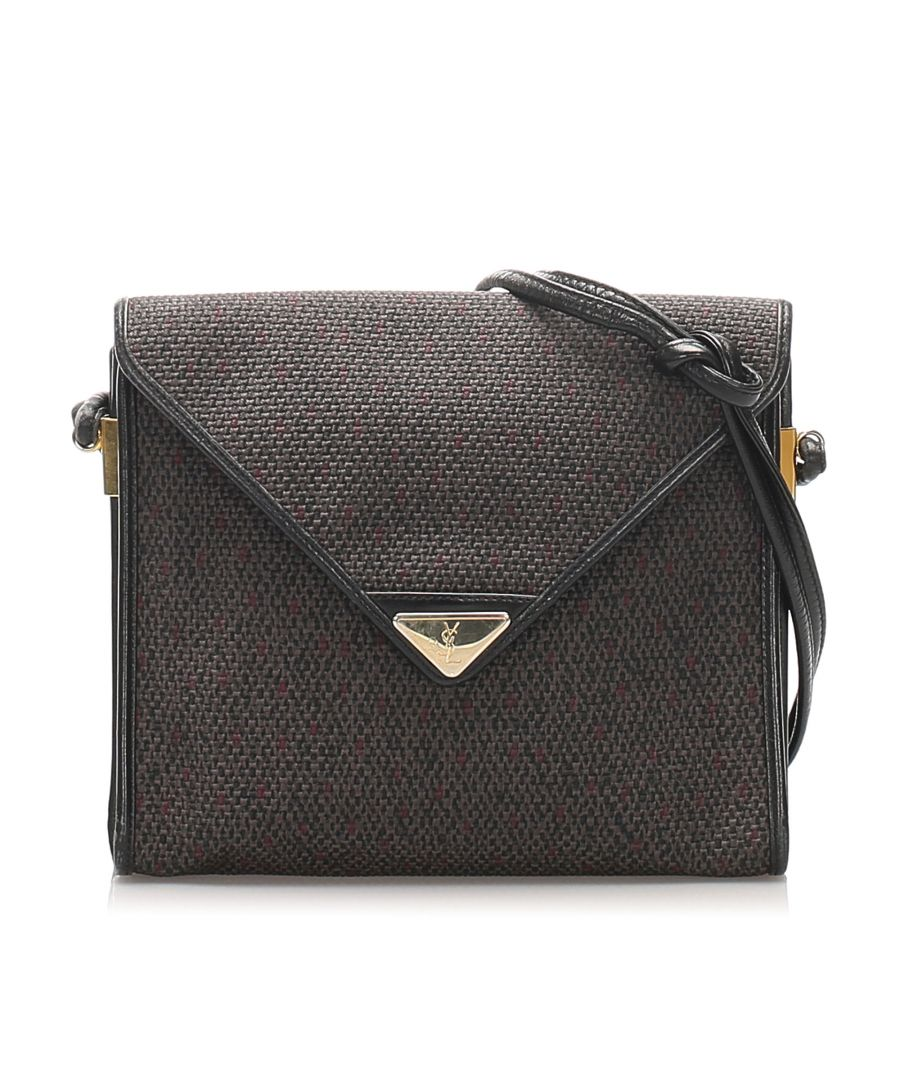 Image for Vintage YSL Canvas Crossbody Bag Gray