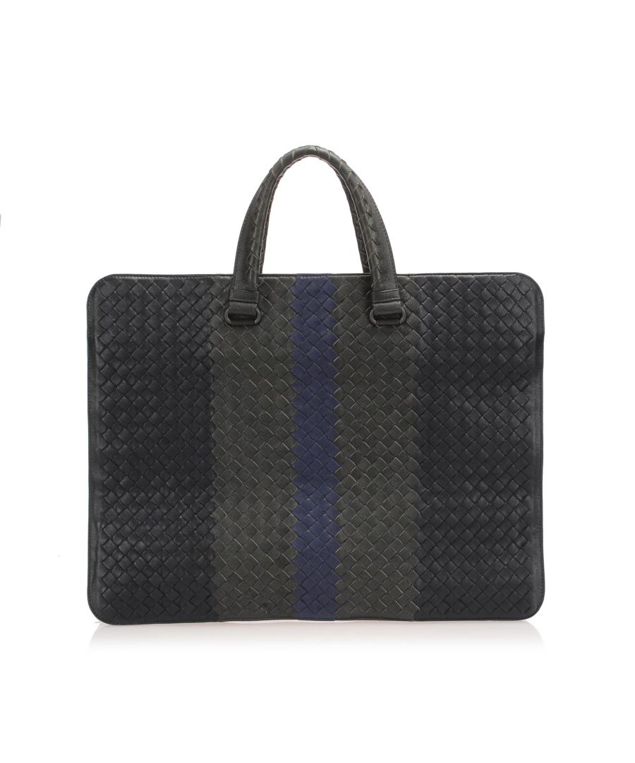 Image for Vintage Bottega Veneta Intrecciato Leather Business Bag Black