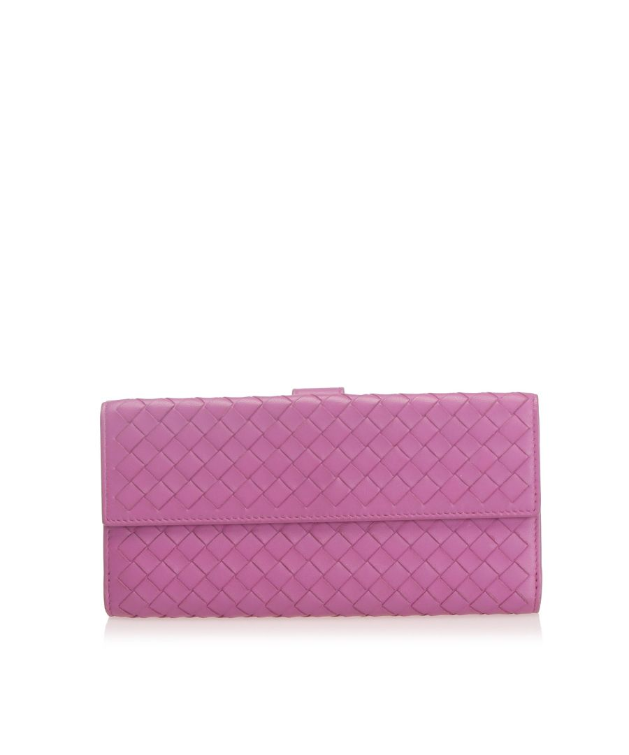 Image for Vintage Bottega Veneta Intrecciato Leather Long Wallet Purple