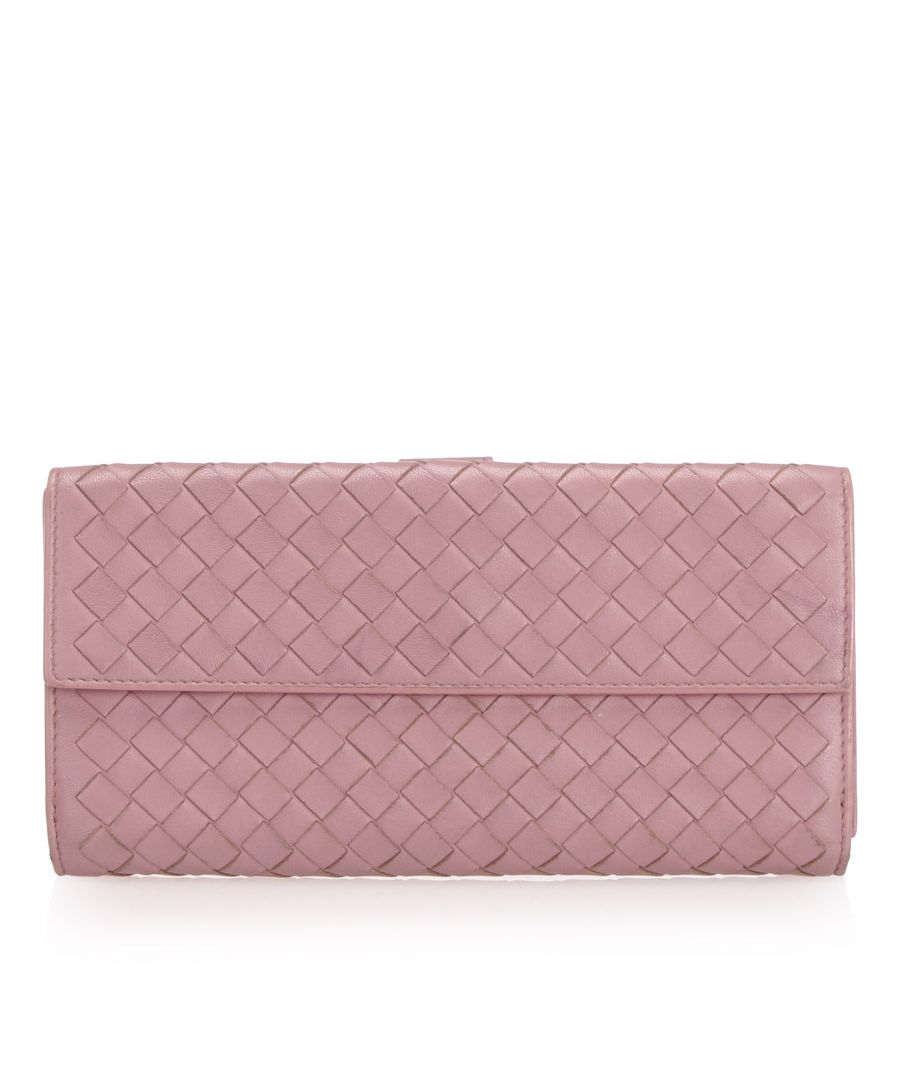 Image for Vintage Bottega Veneta Intrecciato Leather Long Wallet Pink