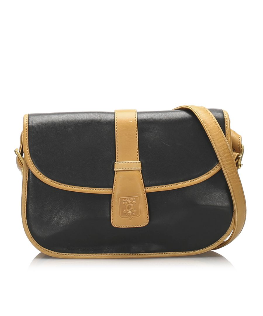 Image for Vintage Celine Leather Crossbody Bag Blue