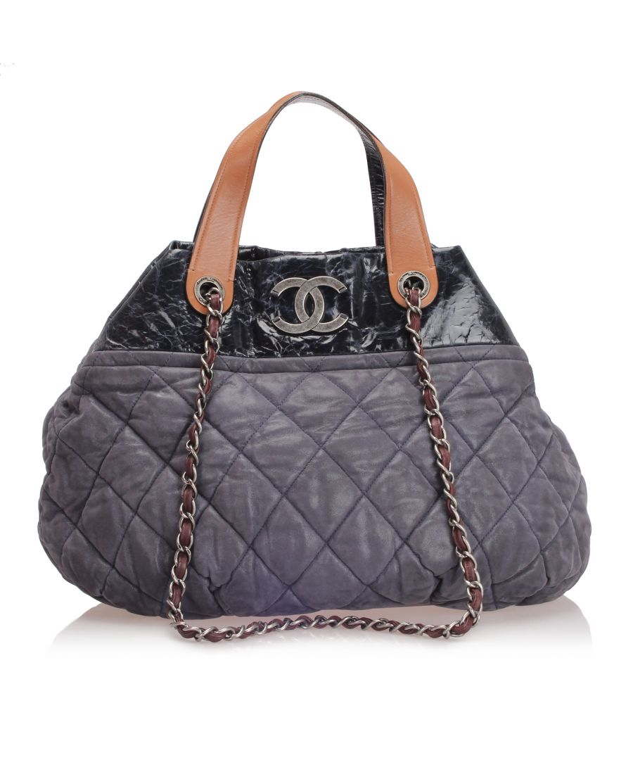 Image for Vintage Chanel In The Mix Lambskin Leather Satchel Black