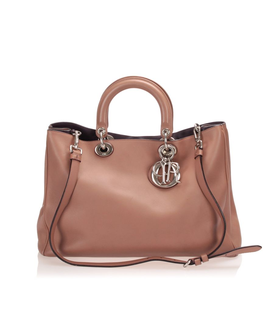 Image for Vintage Dior Lady Dior Leather Satchel Brown