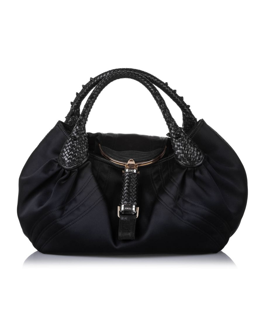 Image for Vintage Fendi Spy Nylon Handbag Black