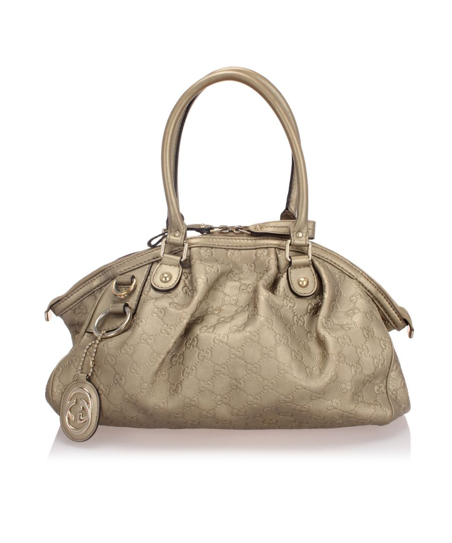 Image for Vintage Gucci Guccissima Sukey Satchel Gold
