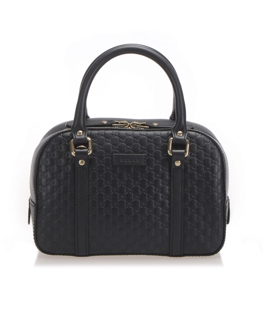 Image for Vintage Gucci Microguccissima Satchel Blue