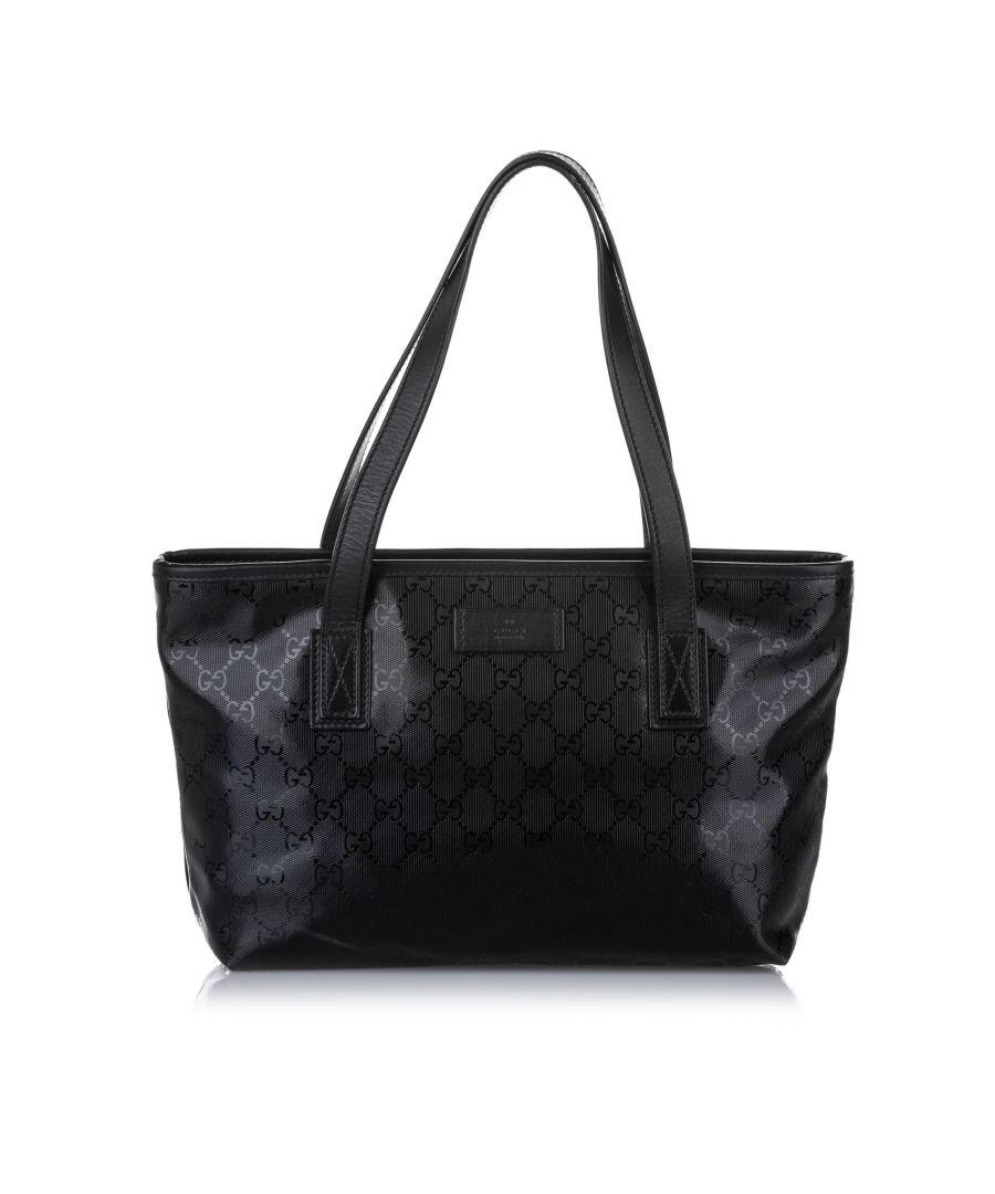 Image for Vintage Gucci GG Imprime Handbag Black