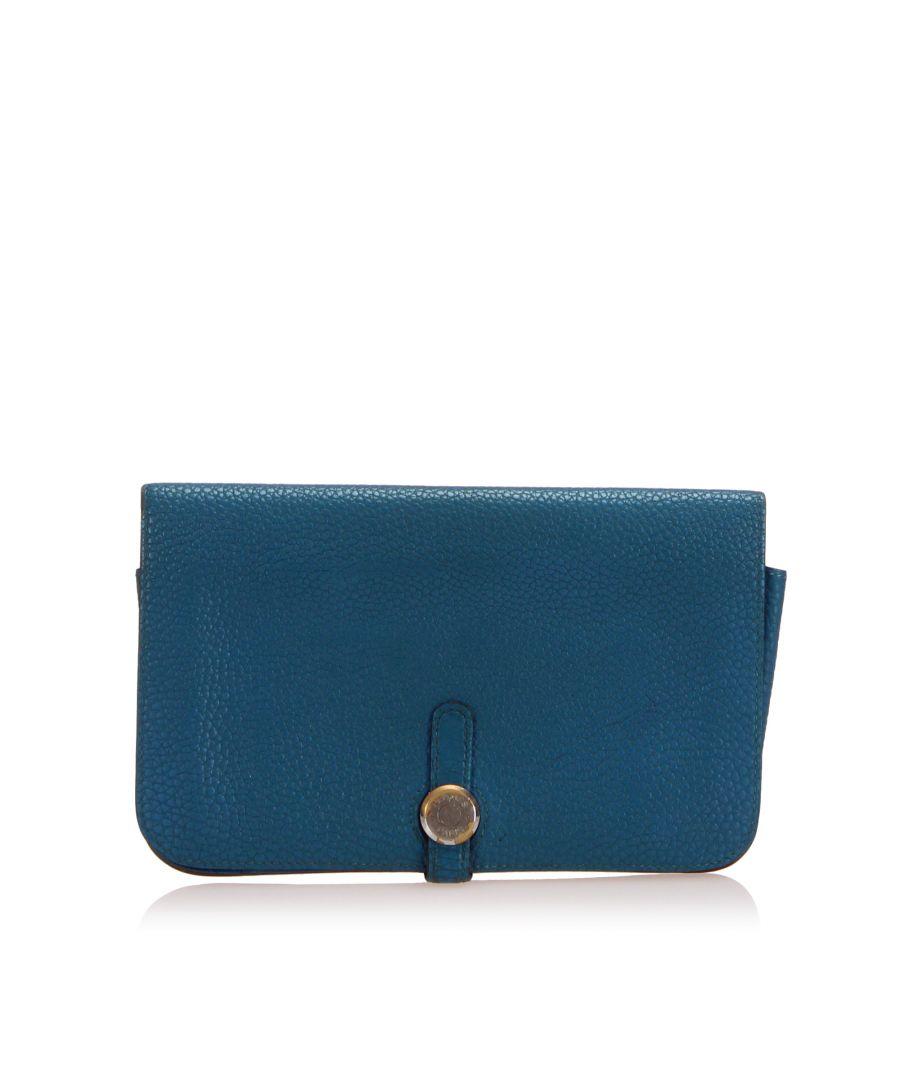 Image for Vintage Hermes Dogon Wallet Blue