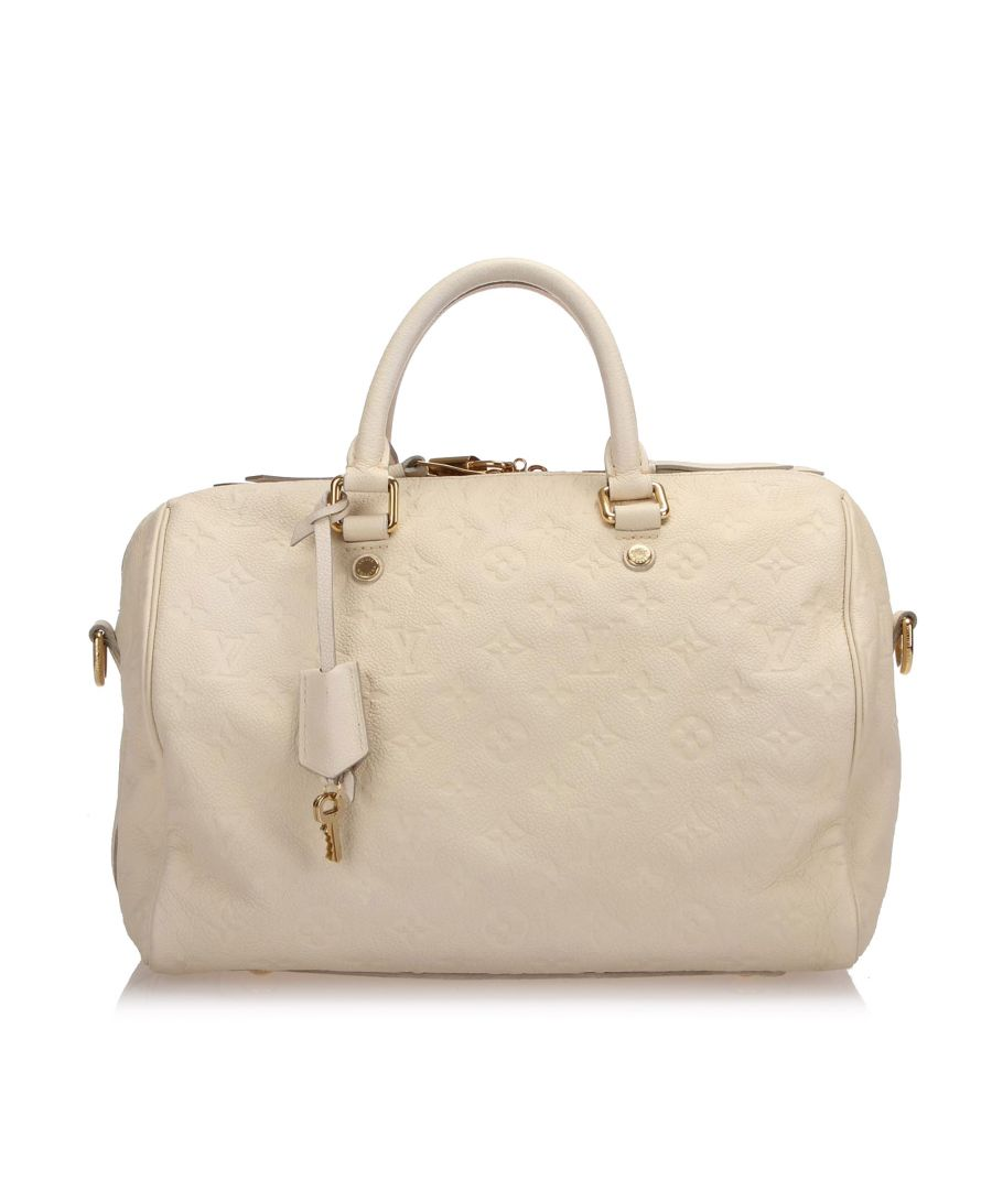 Image for Vintage Louis Vuitton Monogram Empreinte Speedy 30 White