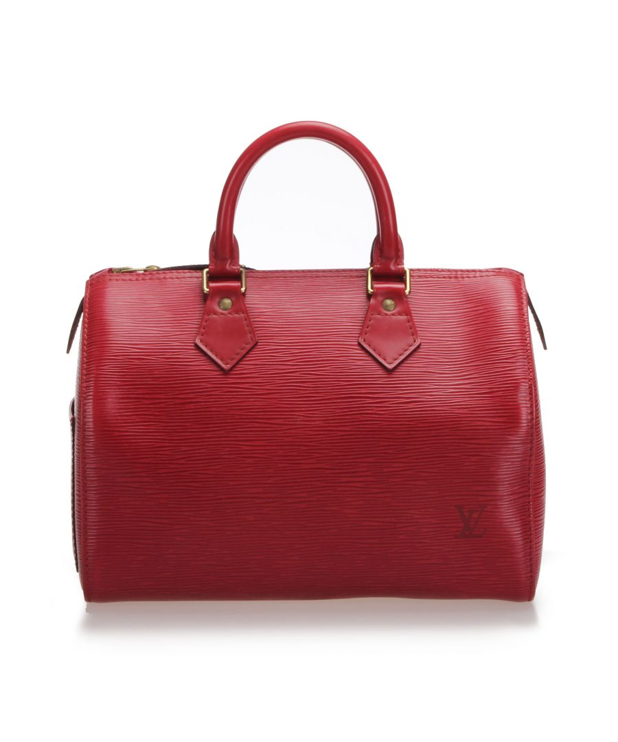 Image for Vintage Louis Vuitton Epi Speedy 30 Red
