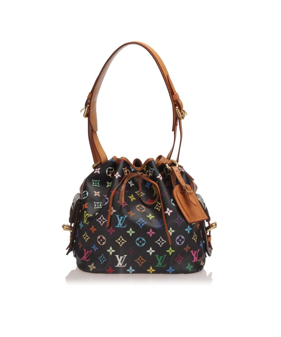 Image for Vintage Louis Vuitton Monogram Multicolore Petit Noe Black