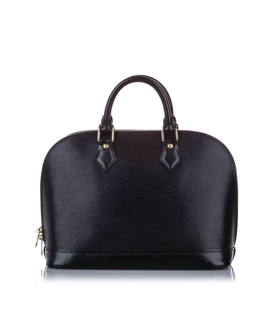 Image for Vintage Louis Vuitton Epi Alma PM Black
