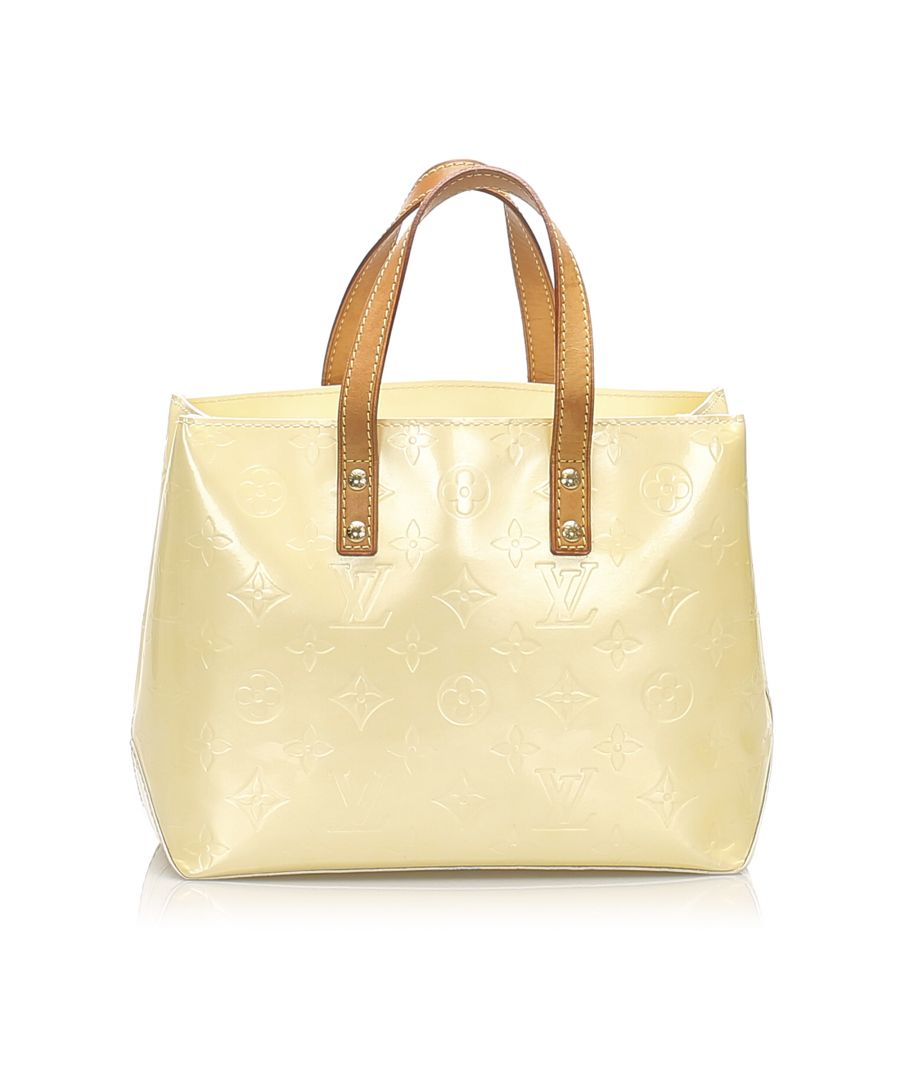 Image for Vintage Louis Vuitton Vernis Reade PM Yellow