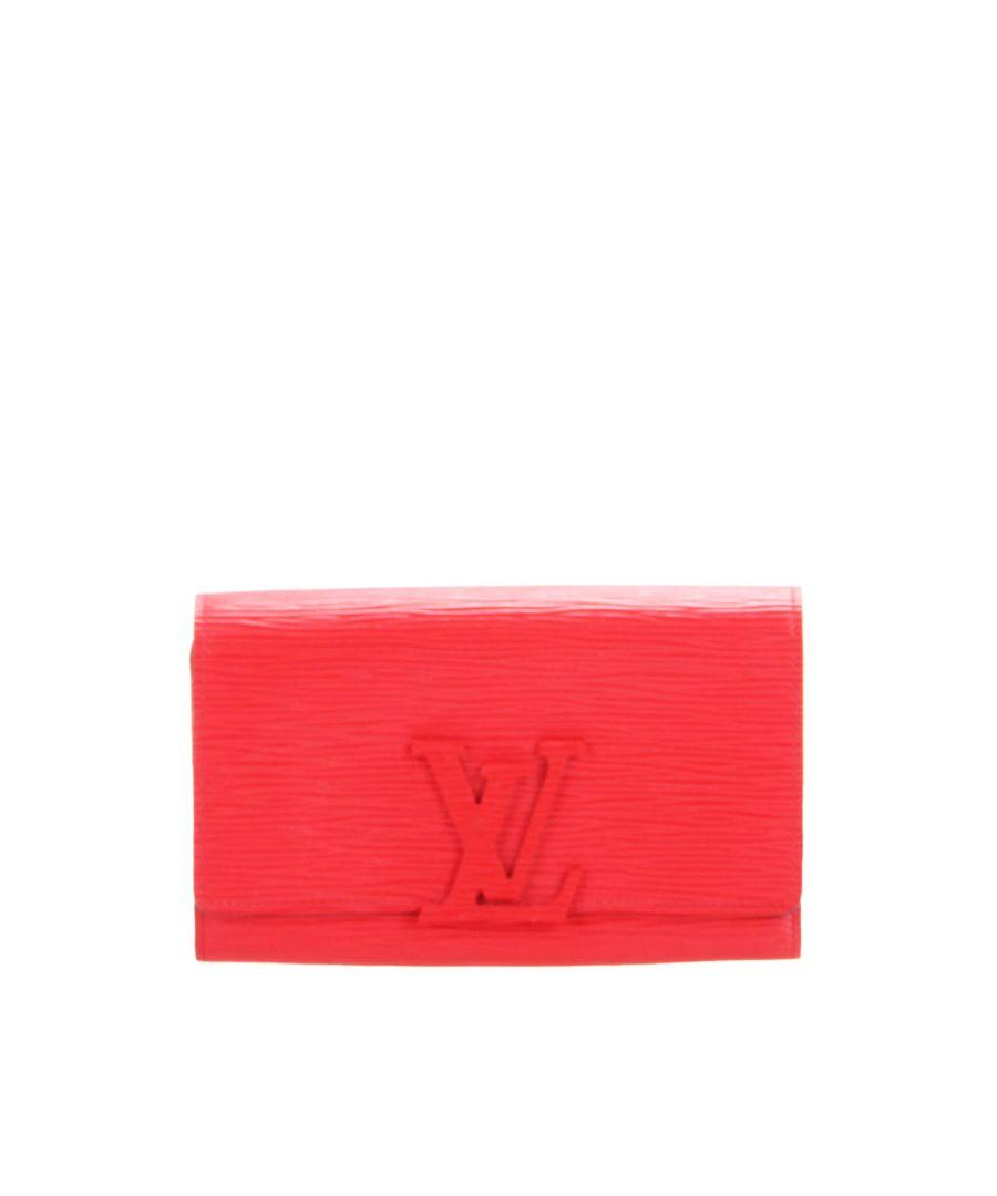 Image for Vintage Louis Vuitton Epi Louise Long Wallet Red
