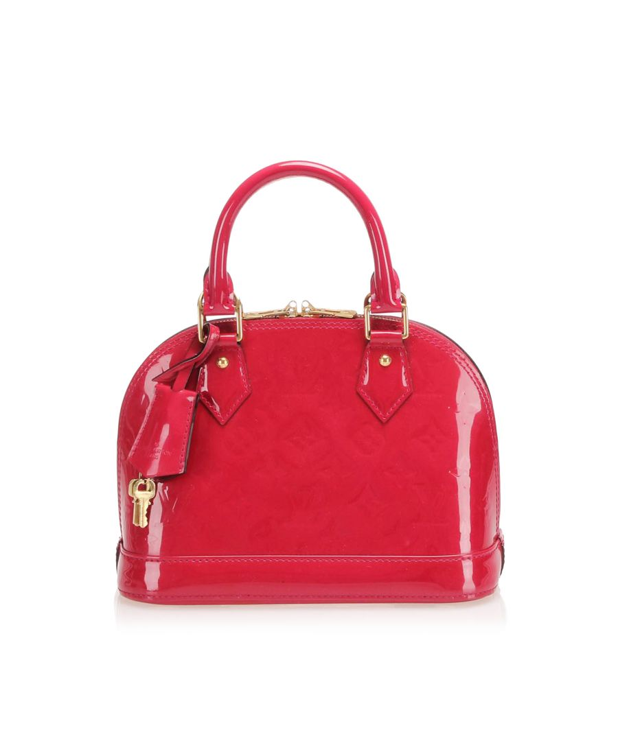 Image for Vintage Louis Vuitton Vernis Alma BB Pink