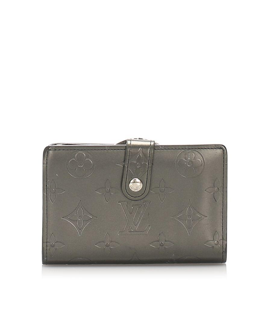 Image for Vintage Louis Vuitton Monogram Mat French Purse Black