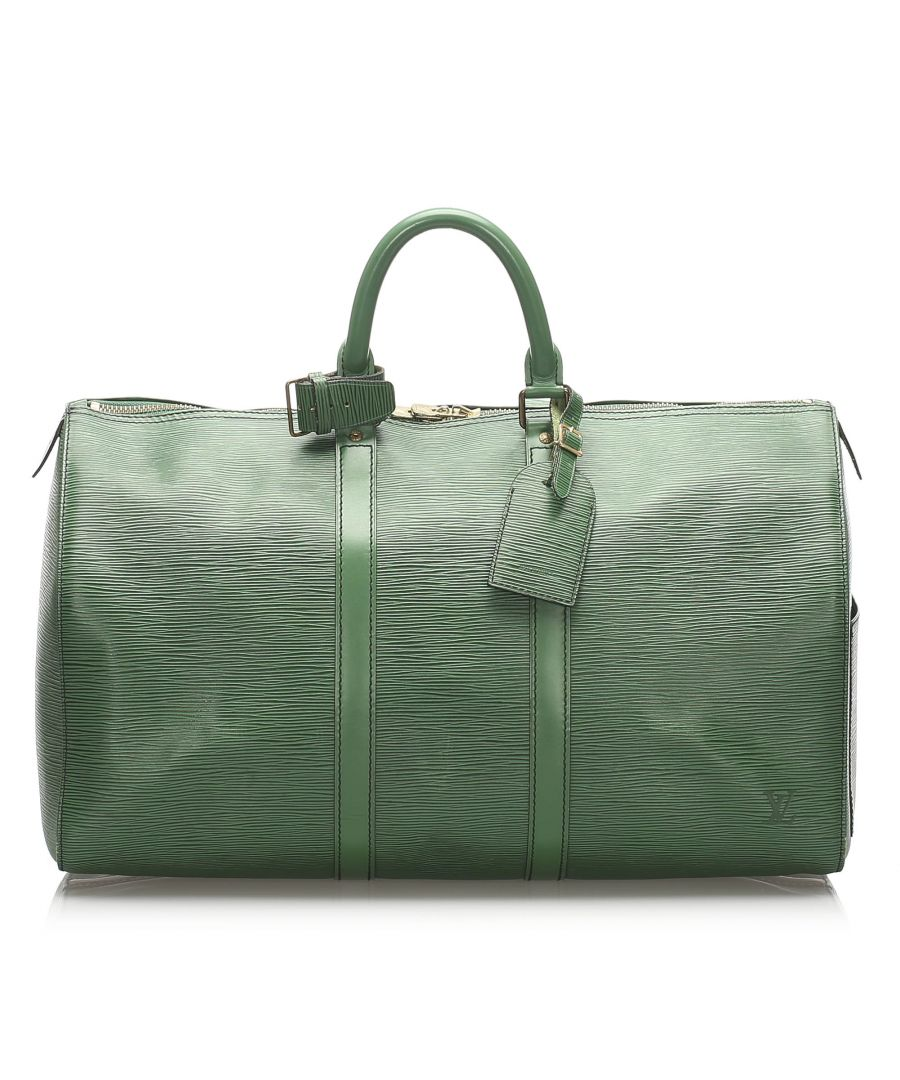 Image for Vintage Louis Vuitton Epi Keepall 50 Green