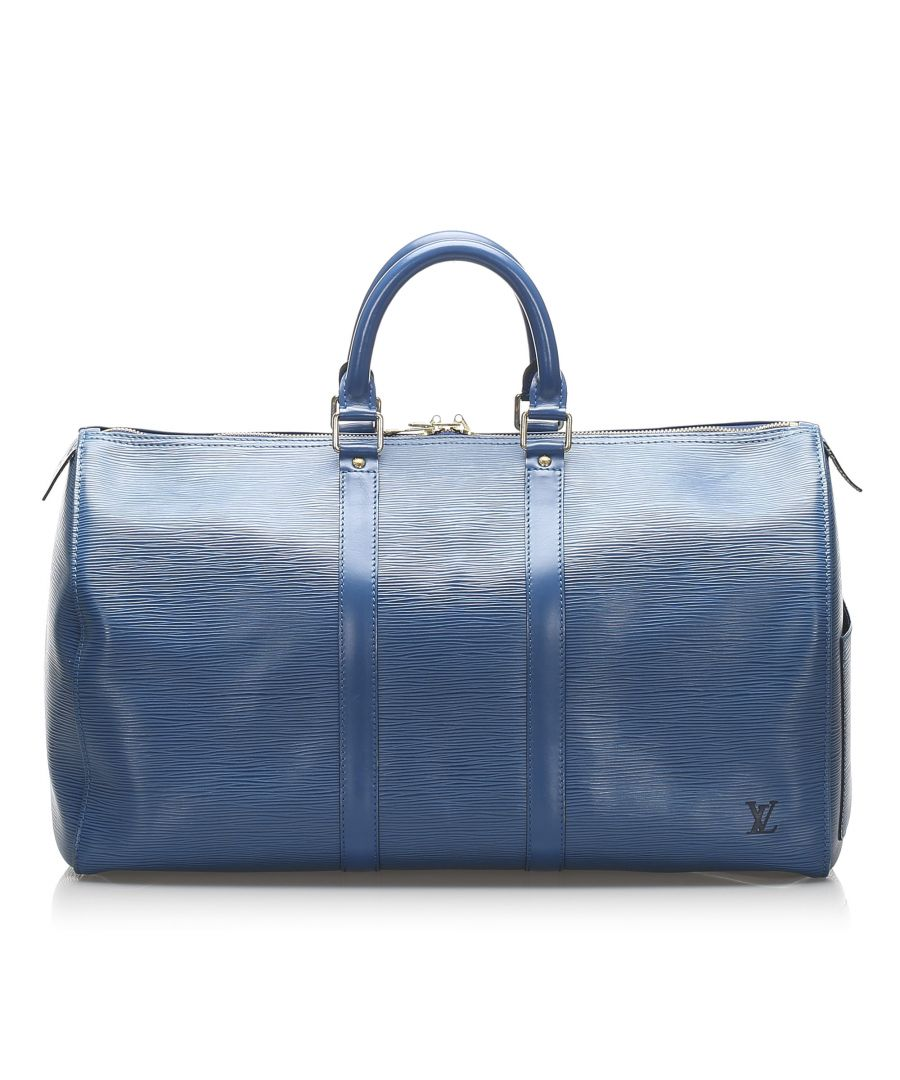 Image for Vintage Louis Vuitton Epi Keepall 45 Blue