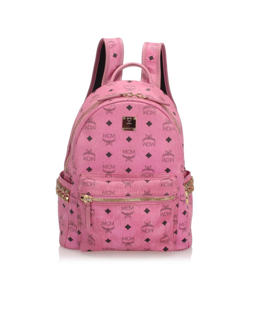Image for Vintage MCM Visetos Stark Backpack Pink