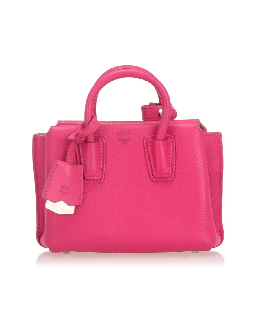Image for Vintage MCM Mini Milla Leather Satchel Pink