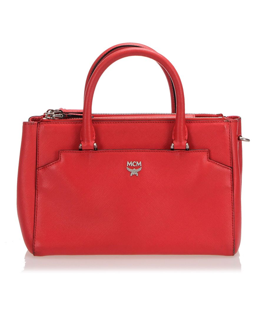 Image for Vintage MCM Leather Satchel Red