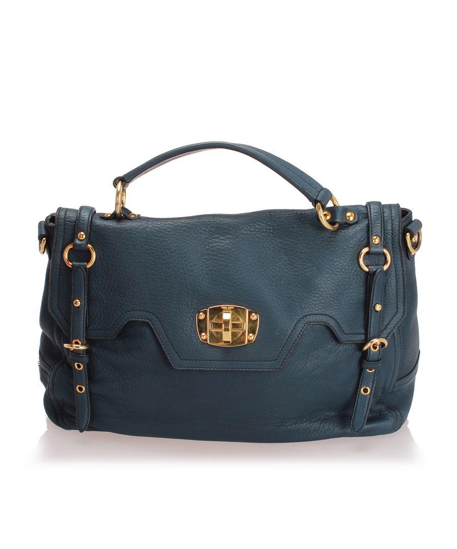 Image for Vintage Miu Miu Leather Satchel Black