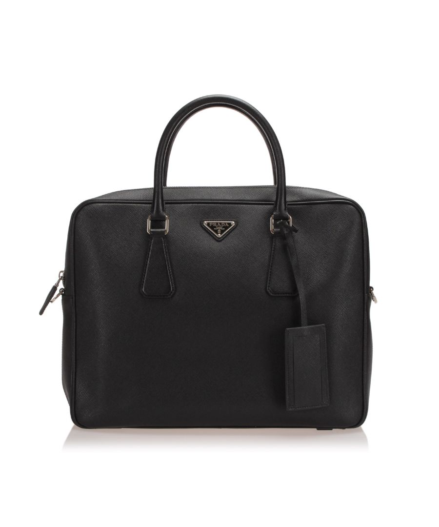 Image for Vintage Prada SaffianoBusiness Bag Black