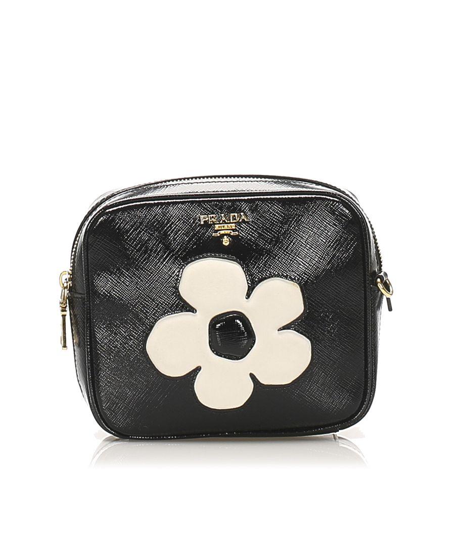 Image for Vintage Prada Saffiano Vernice Crossbody Bag Black